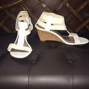 Shoes - White short wedges